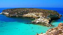 Rabbit Beach, sur l'île de Lampedusa.